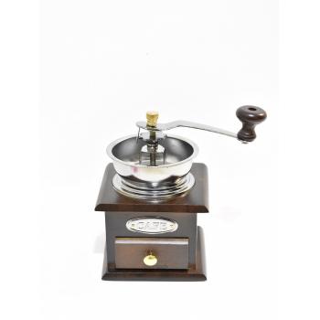 Жерновая кофемолка с воронкой открытого типа.