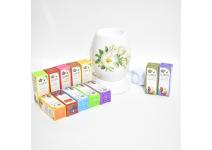 Набор для ароматерапии. Электрическая аромалампа, эфирные масла 12 штук
