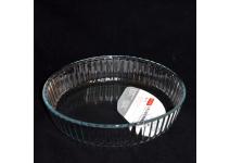 Форма для запекания из жаропрочного стекла. Объем 2л. Диаметр 26.5 см., высота 6 см.